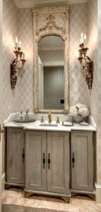Awesome Rustic Country Bathroom Mirror Ideas 17