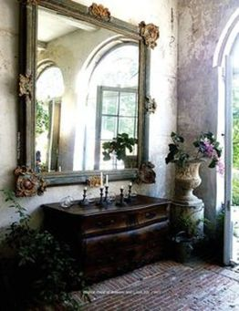 Awesome Rustic Country Bathroom Mirror Ideas 40