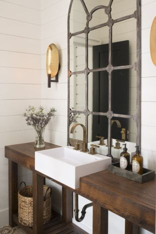 Awesome Rustic Country Bathroom Mirror Ideas 42