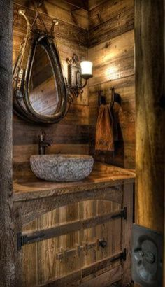 Awesome Rustic Country Bathroom Mirror Ideas 51