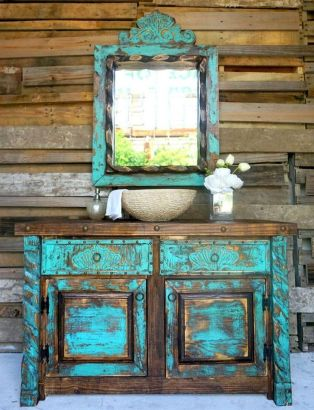Awesome Rustic Country Bathroom Mirror Ideas 53