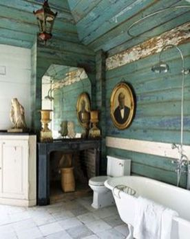 Awesome Rustic Country Bathroom Mirror Ideas 57