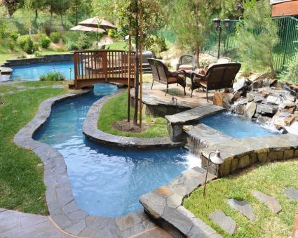 Lazy River Pool On Home Ideas 13