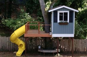 Simple Diy Treehouse For Kids Play 15