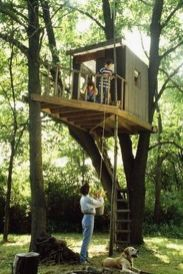 Simple Diy Treehouse For Kids Play 2