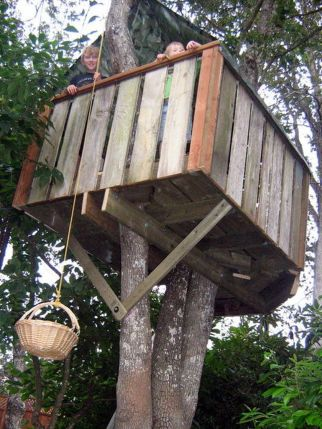 Simple Diy Treehouse For Kids Play 23