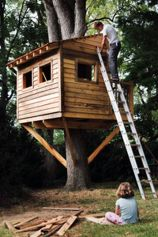 Simple Diy Treehouse For Kids Play 32