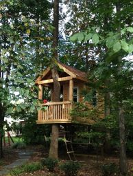 Simple Diy Treehouse For Kids Play 45