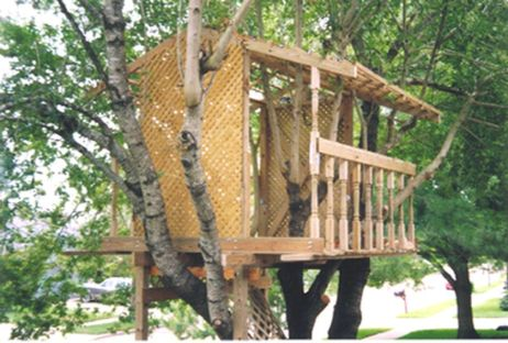 Simple Diy Treehouse For Kids Play 56