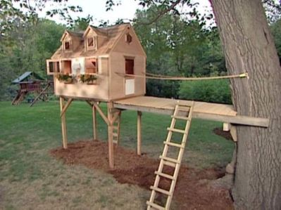 Simple Diy Treehouse For Kids Play 64