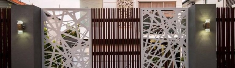 Amazing Modern Home Gates Ideas Featured