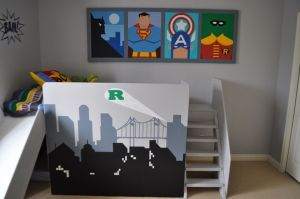 Awesome Superhero Themed Room Design Ideas 47