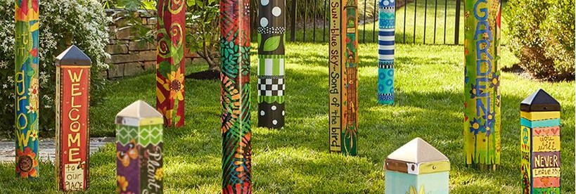 Colorful Peace Poles Design Ideas Featured