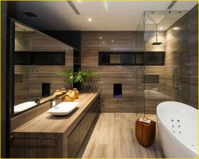 Cozy Wooden Bathroom Designs Ideas 13