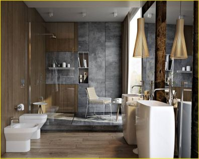 Cozy Wooden Bathroom Designs Ideas 16