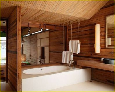 Cozy Wooden Bathroom Designs Ideas 19