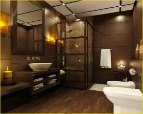 Cozy Wooden Bathroom Designs Ideas 22