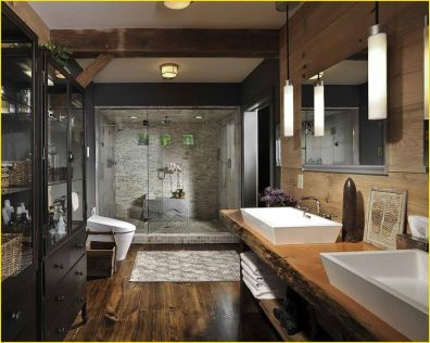 Cozy Wooden Bathroom Designs Ideas 3