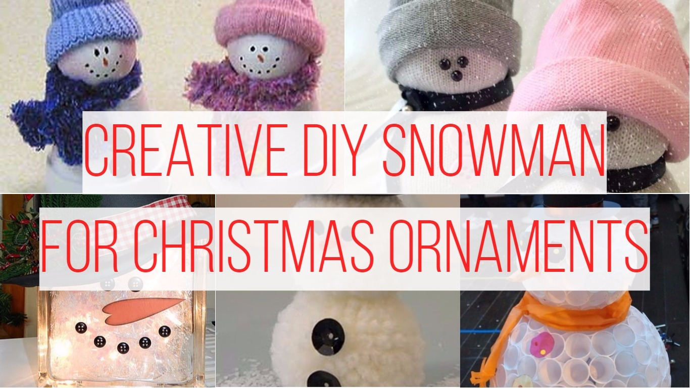 Creative DIY Snowman Ideas