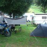 Le campement au camping du Pré à ABONDANCE
