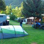 """Le campement au camping """"Le Tunnel"""" à ETROUBLES"""