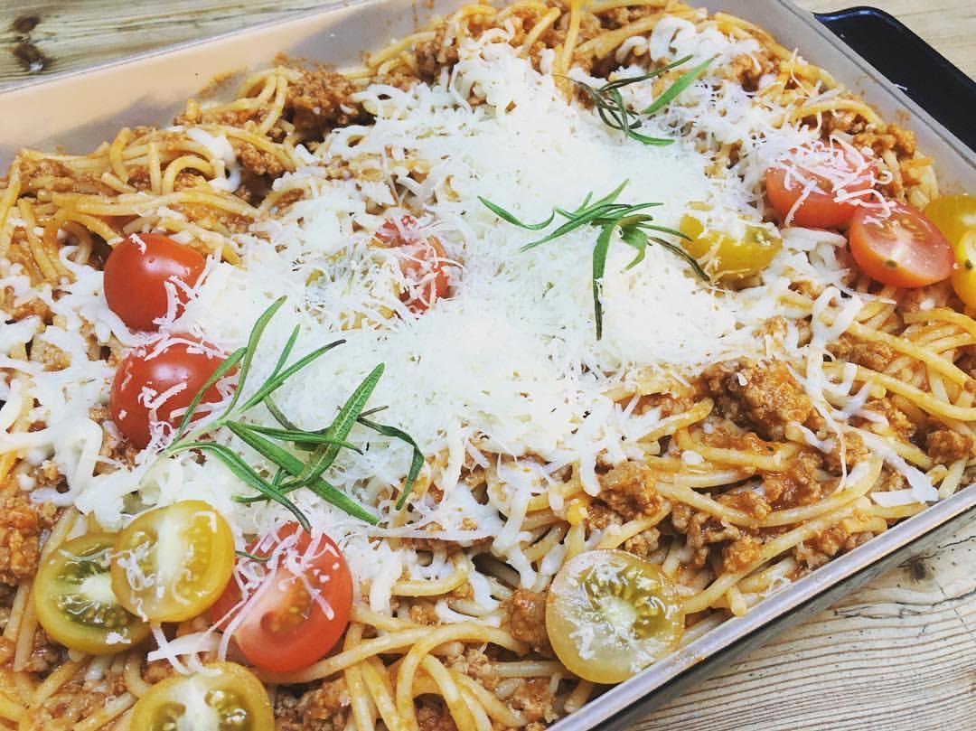 glutenfri pasta med kjøttsaus