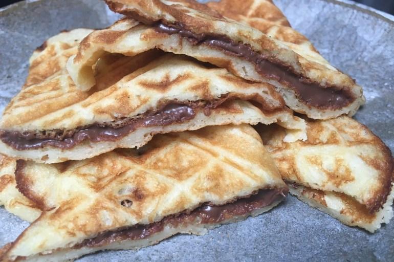 Glutenfrie vafler med nutella