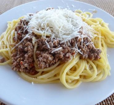 Glutenfri spagetti med kjøttsaus