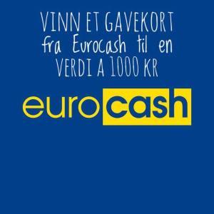 Konkurranse! Vi deler ut 5  gavekort til en verdi à 1000 Kr hos Eurocash