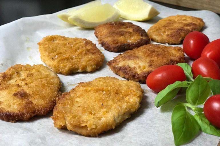 Glutenfri schnitzel . Middag på 1-2-3