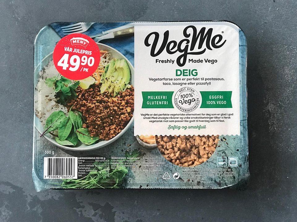 VegMe vegetardeig