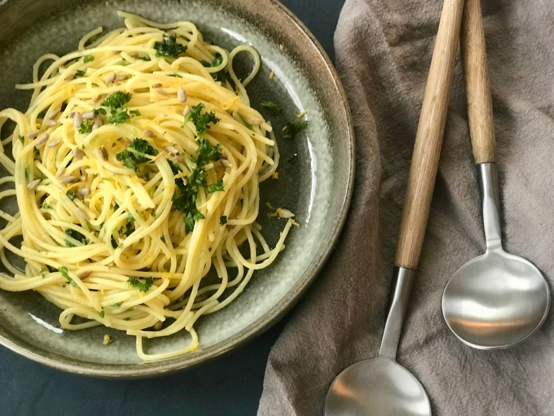 Glutenfri spagetti al limone