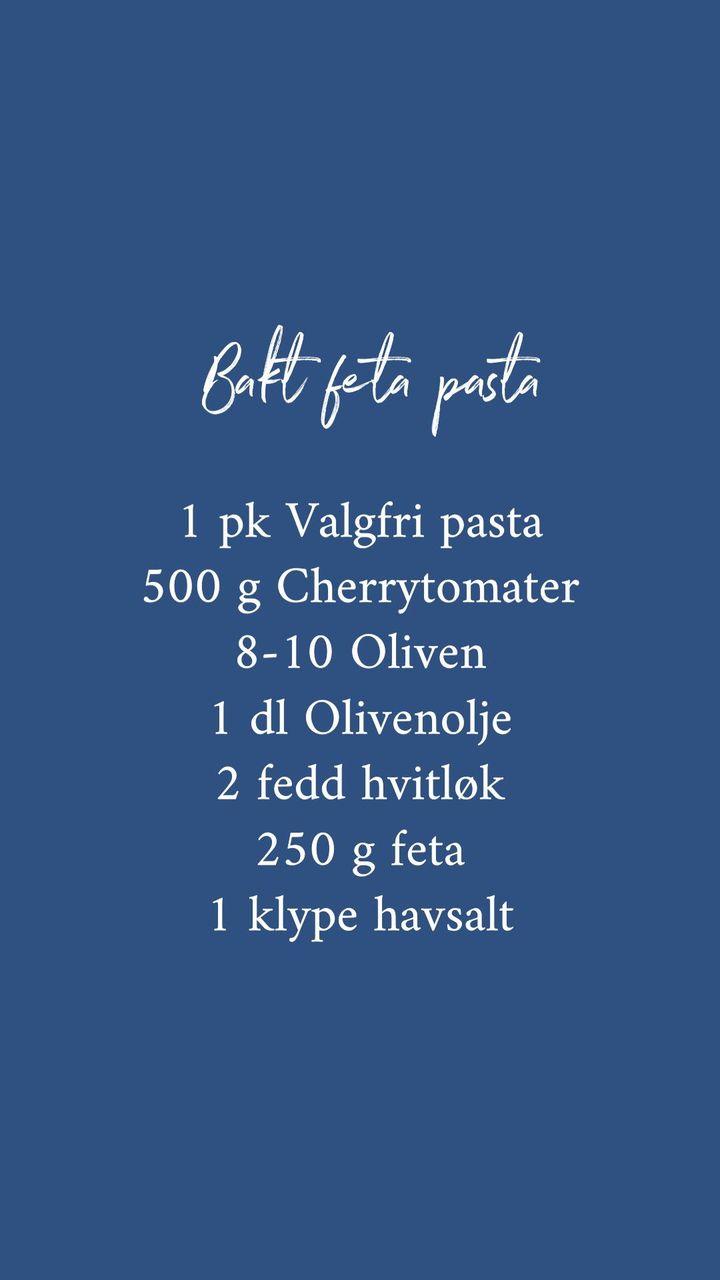 Glutenfri bakt feta pasta