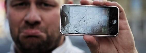meg med knust iphone