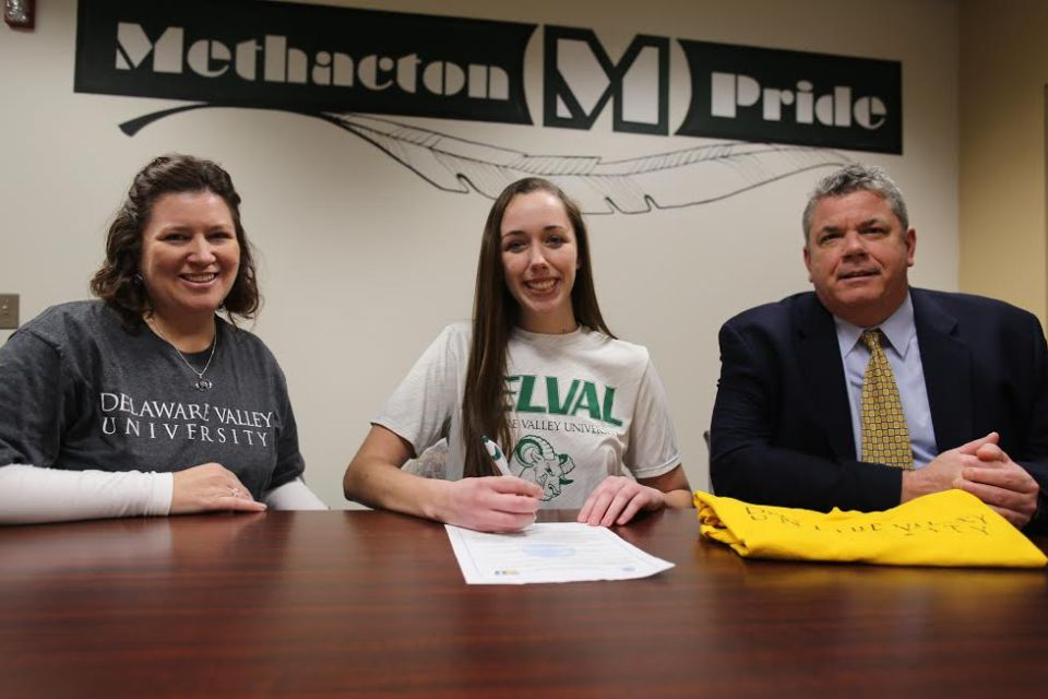 Methacton's Kelly Hallman signs on with Delaware Valley