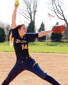 Agnes Irwin freshman pitcher Paige DiLullo threw a shutout against Springside Chestnut Hill Wednesday.