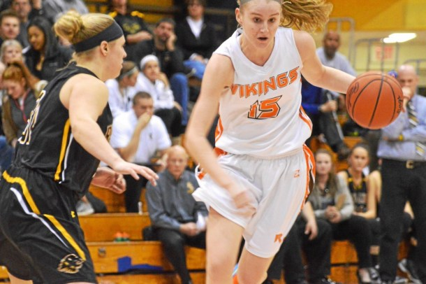 Perkiomen Valley's KT Armstrong drives the lane during the Vikings' 60-50 victory over Red Lion in the PIAA-AAAA opening round. (Sam Stewart - Digital First Media)