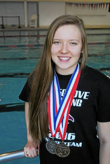 Pottsgrove senior Emily Glinecke was named The Mercury's All-Area Girls Swimmer of the Year for the second consecutive season. (John Strickler - DFM)