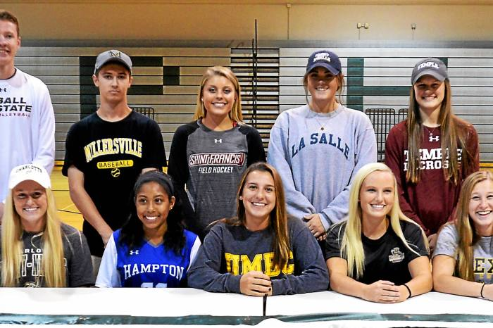Pennridge has 10 student-athletes make their college choice