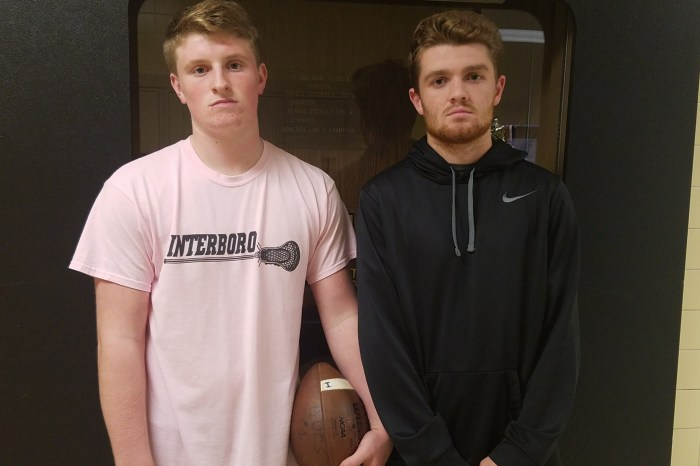 Interboro's McLaughlin, DiSands sidelined but not silenced