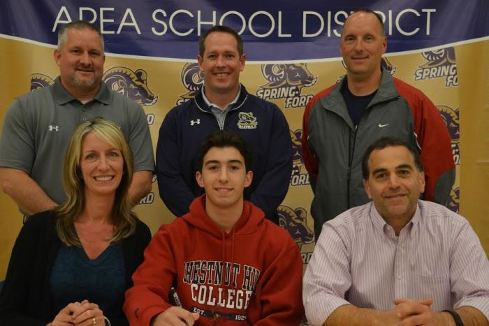 Spring-Ford's Samuel Barletta signs on with Chestnut Hill