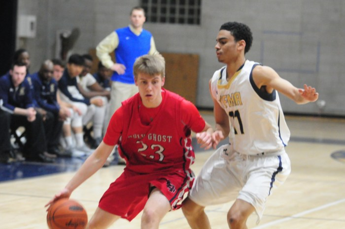 Holy Ghost basketball has no answer for Valley Forge M.A. in second half of BAL semis