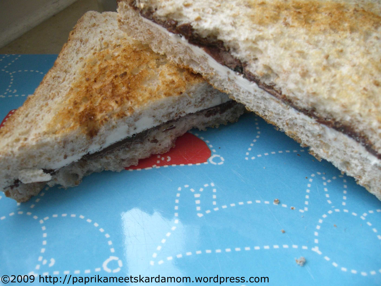 Schokocreme-Minz-Sandwich