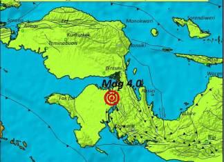 Gempa Dangkal Guncang Teluk Bintuni