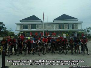 Tim Gowes Kakorlantas-JCC Gowes Perbatasan RI-PNG