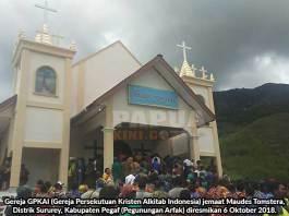 Liku Panjang 23 Tahun Berdirinya Gedung Gereja GPKAI Maudes Tomstera Pegaf