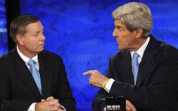 Senators Lindsey Graham and John Kerry
