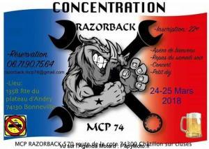 Concentration Razorback - Bonneville (74) @ 1358 Rue du Plateau d'Andey | Bonneville | Auvergne-Rhône-Alpes | France