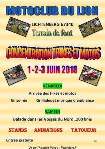 Concentration Trikes et Moto du Motoclub du Lion - Lichtenberg (67) @ Terrain de foot | Lichtenberg | Grand Est | France