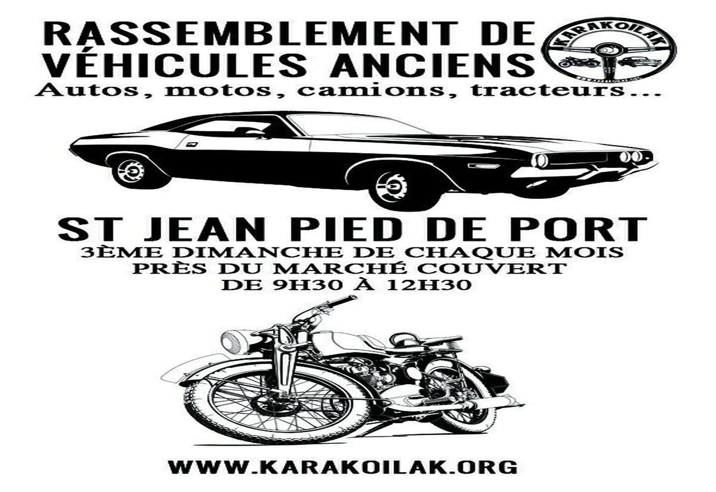 Rassemblement de véhicules anciens – Saint Jean Pied de Port (64)